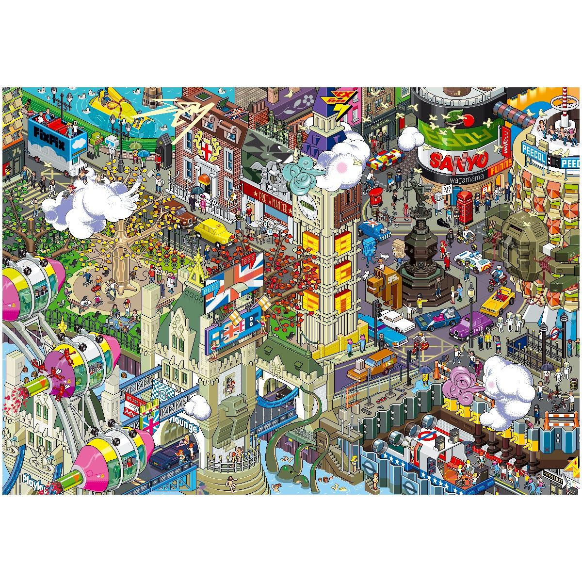 London Pixel poster