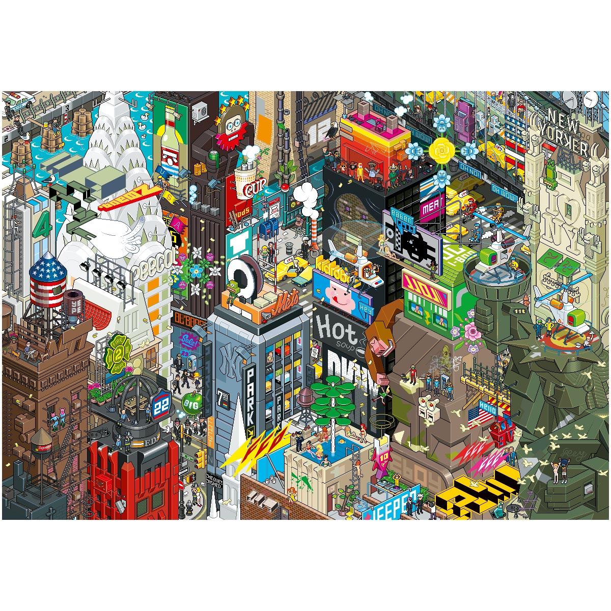 New York Pixel poster