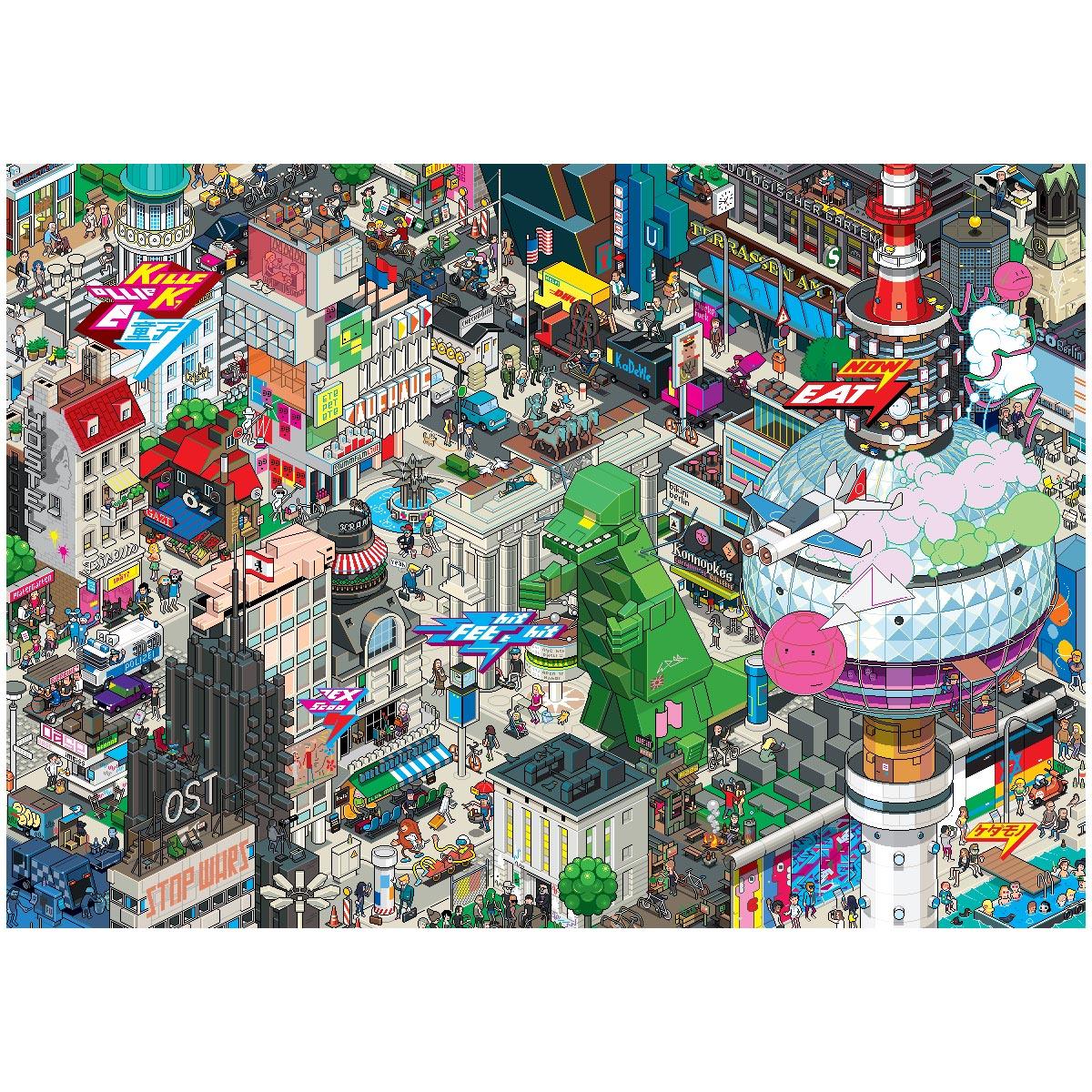 Berlin Pixel poster