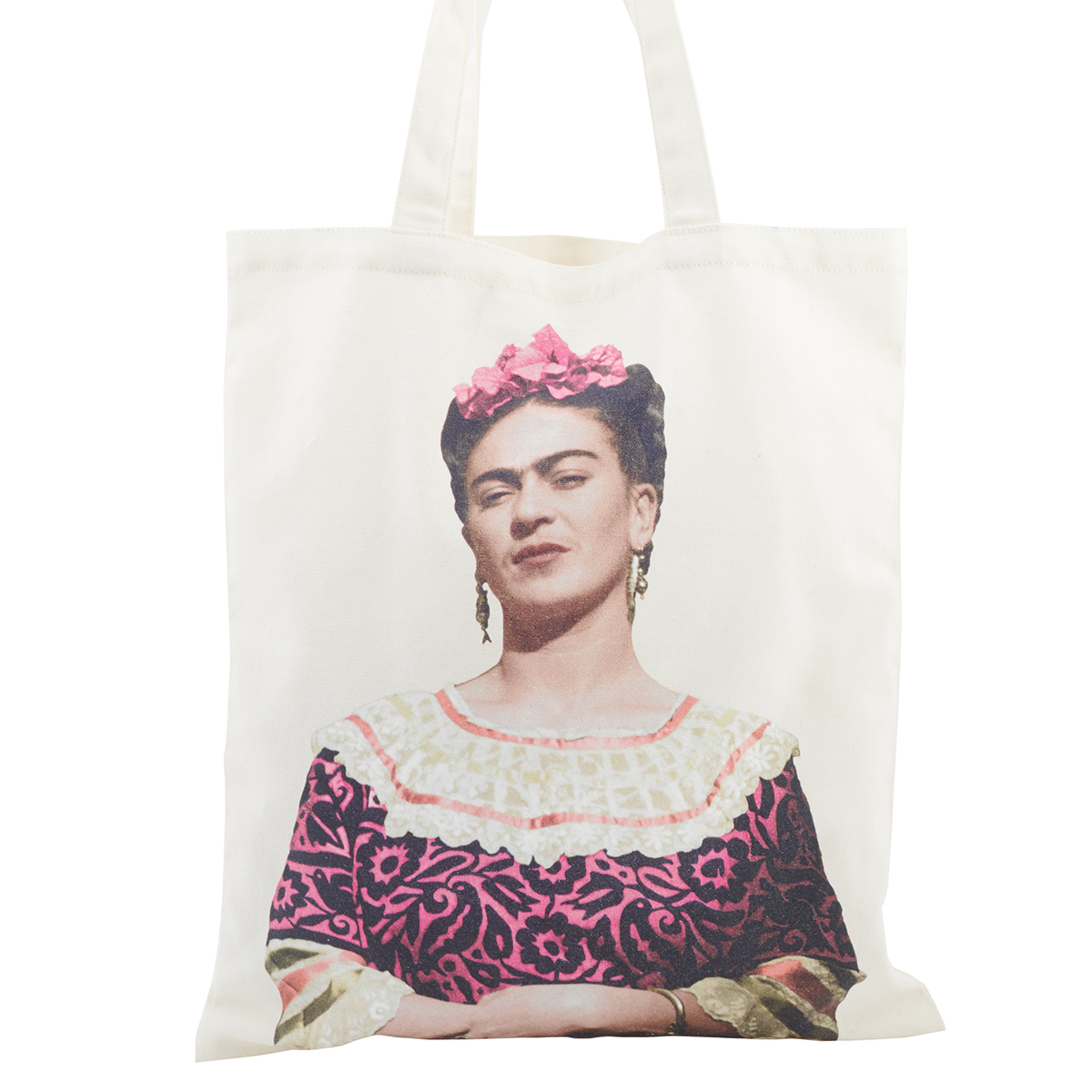 Frida Kahlo: Making Her Self Up cotton tote bag