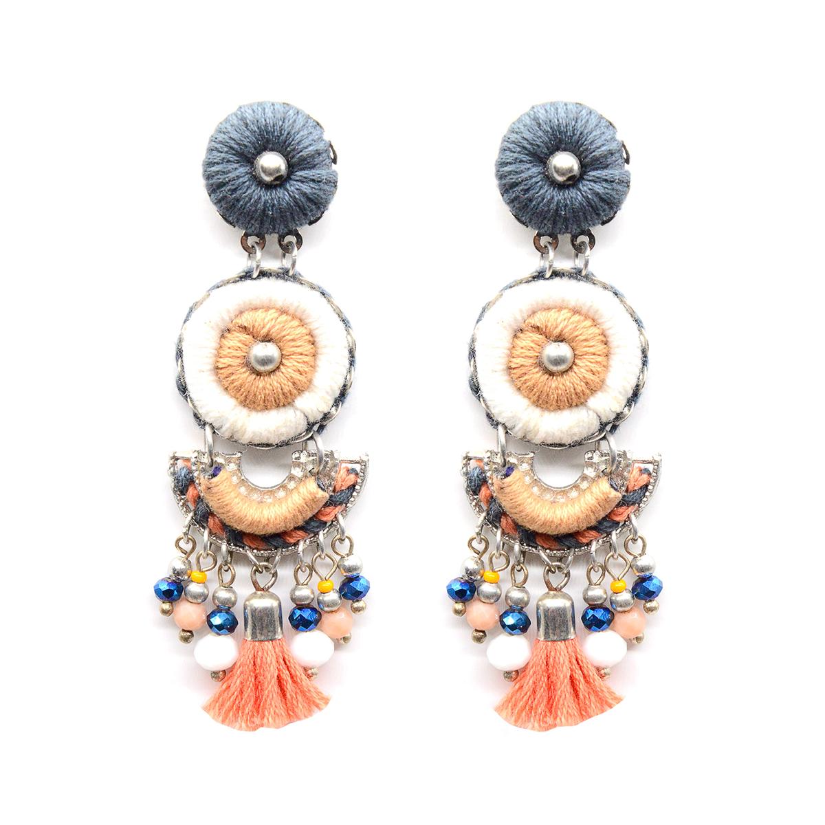 Statement drop stud earrings