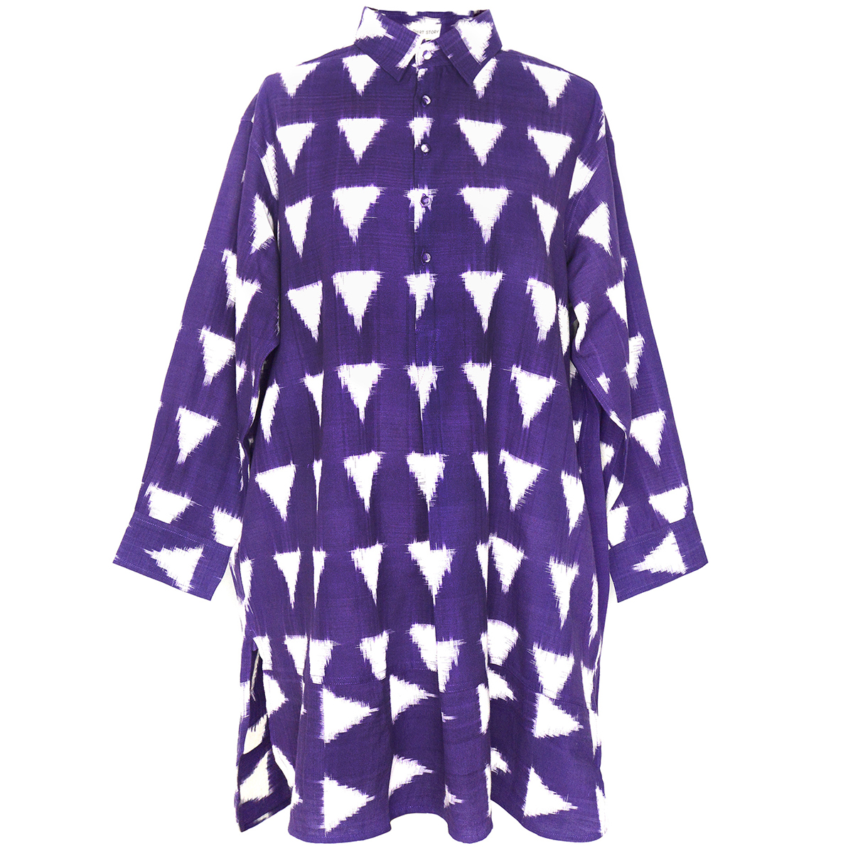 Aubergine Ikat shirt