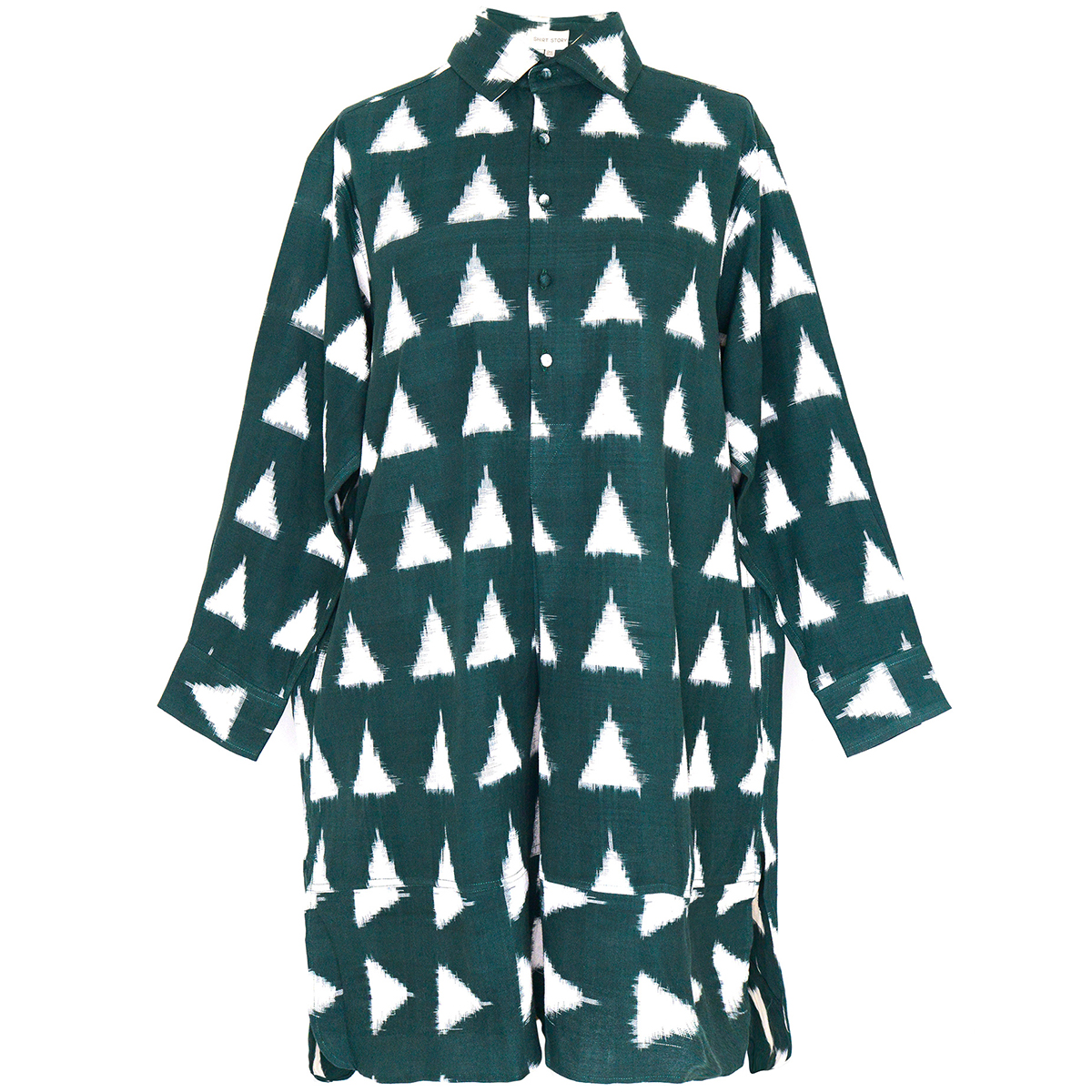 Teal Ikat shirt