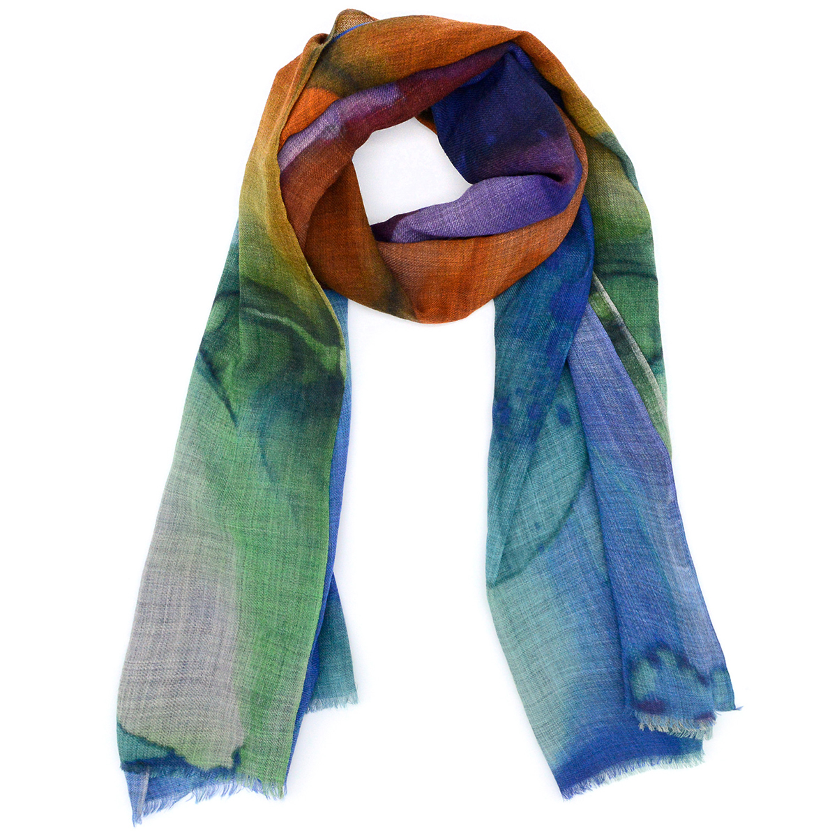 Abstract watercolour scarf