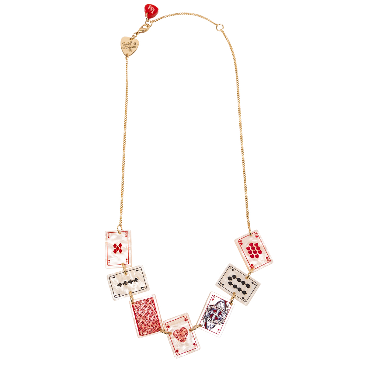 Playing Cards necklace by Tatty Devine