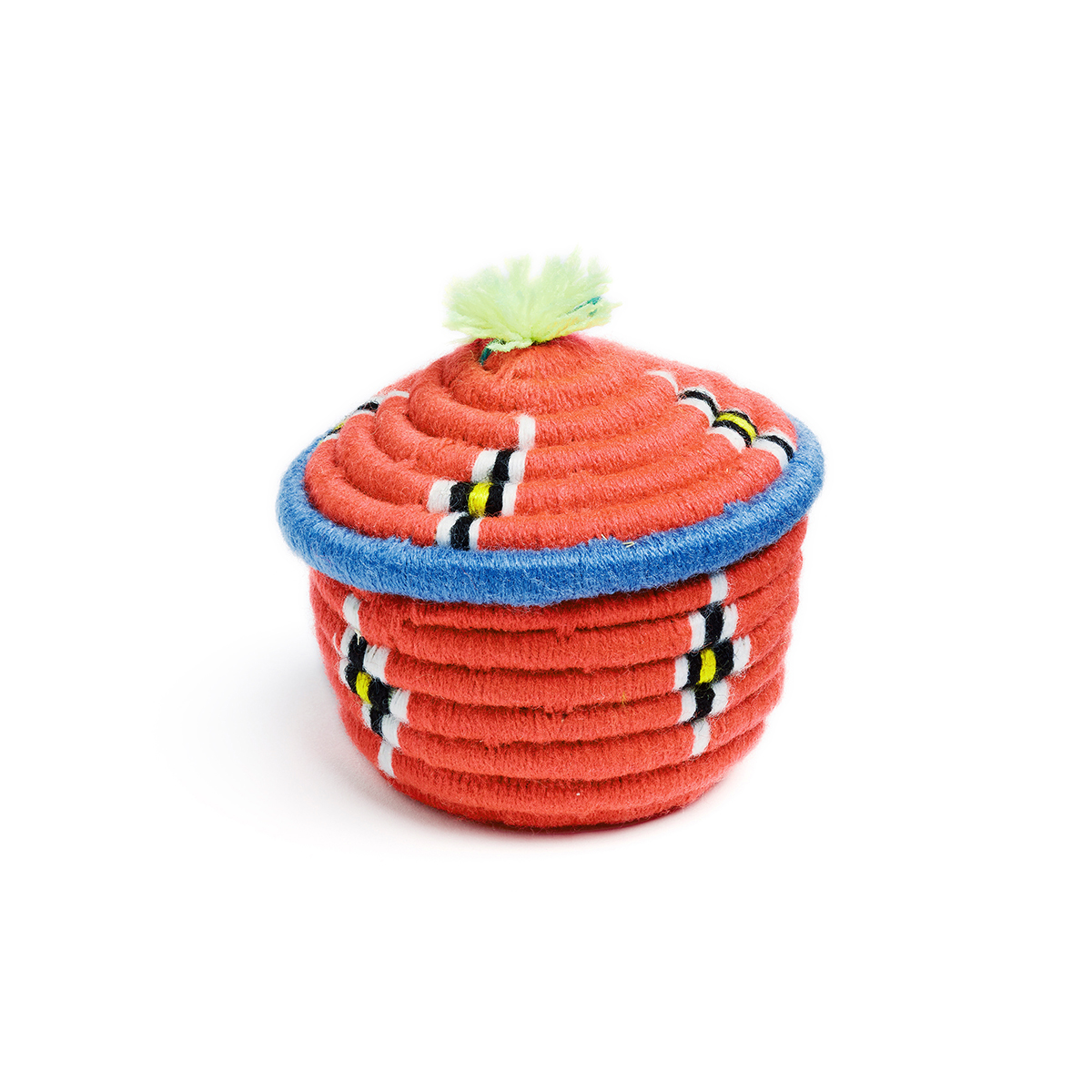 Mini orange Iranian kapu basket