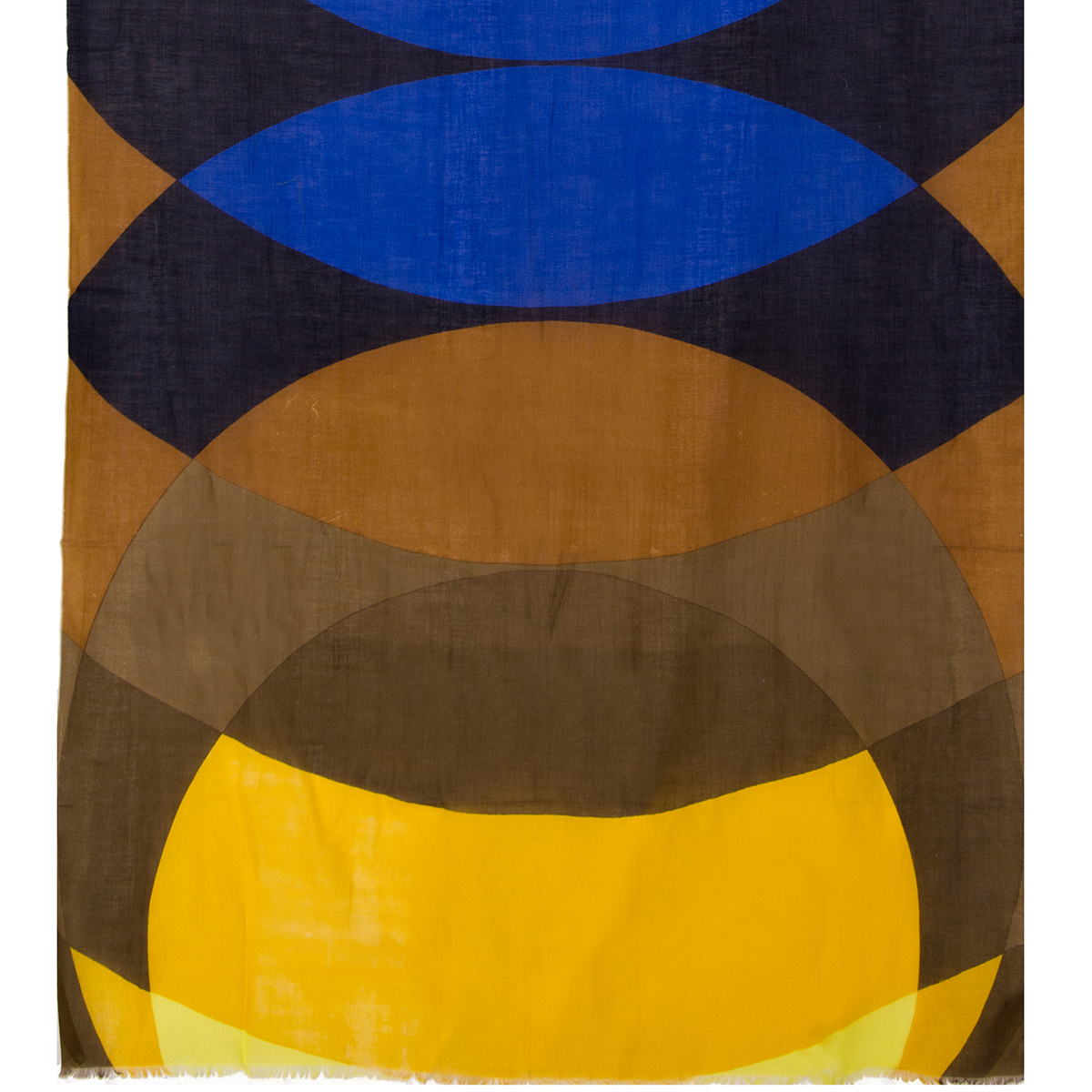 Blue and yellow abstract scarf