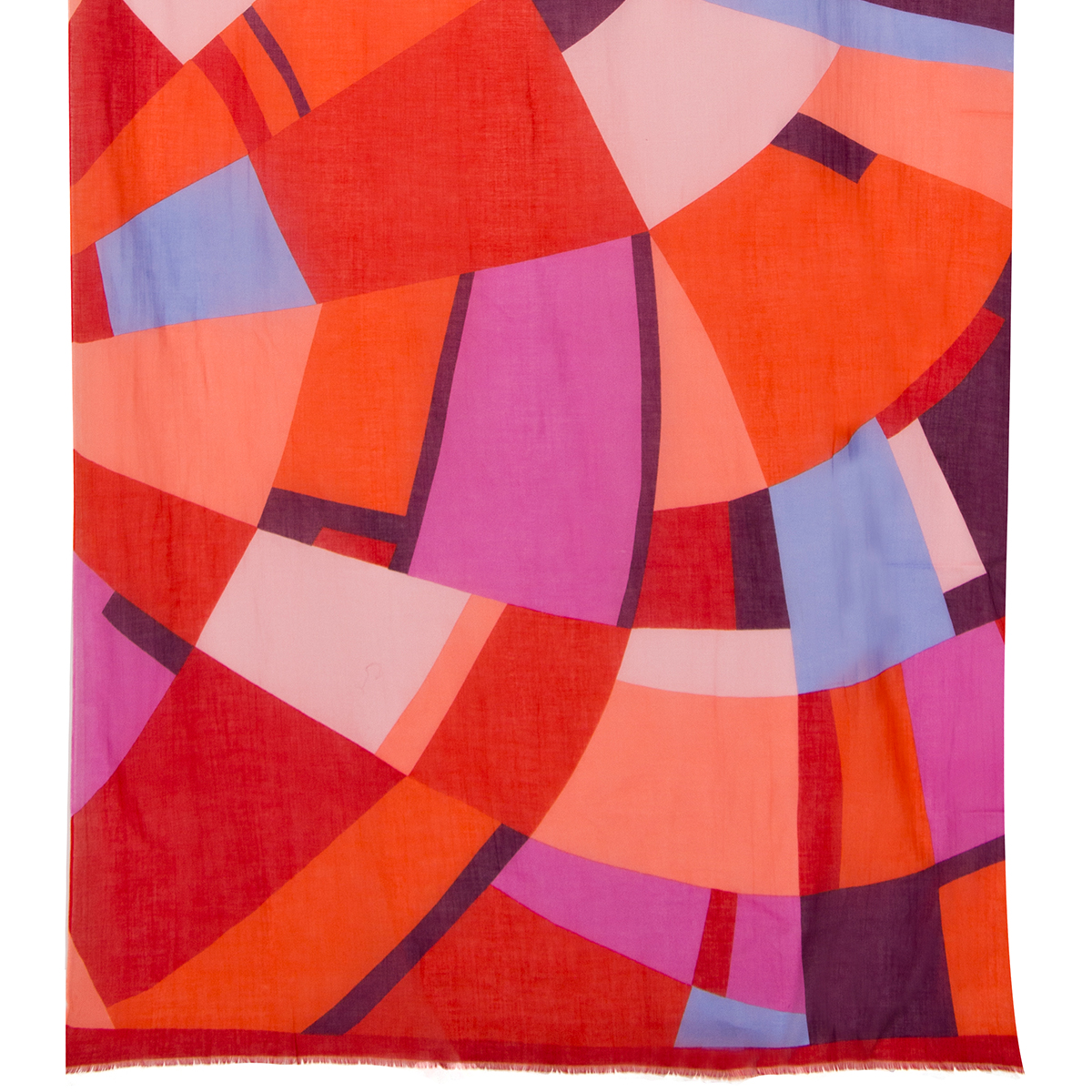 Pink and red abstract scarf