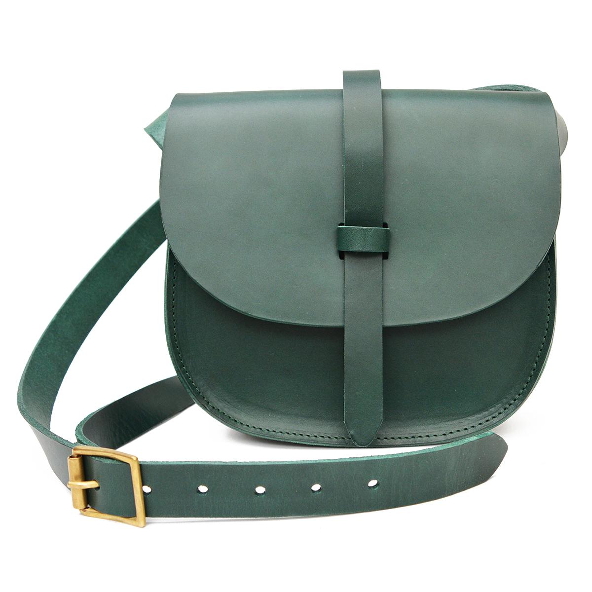 Dark green saddle bag by Natthakur