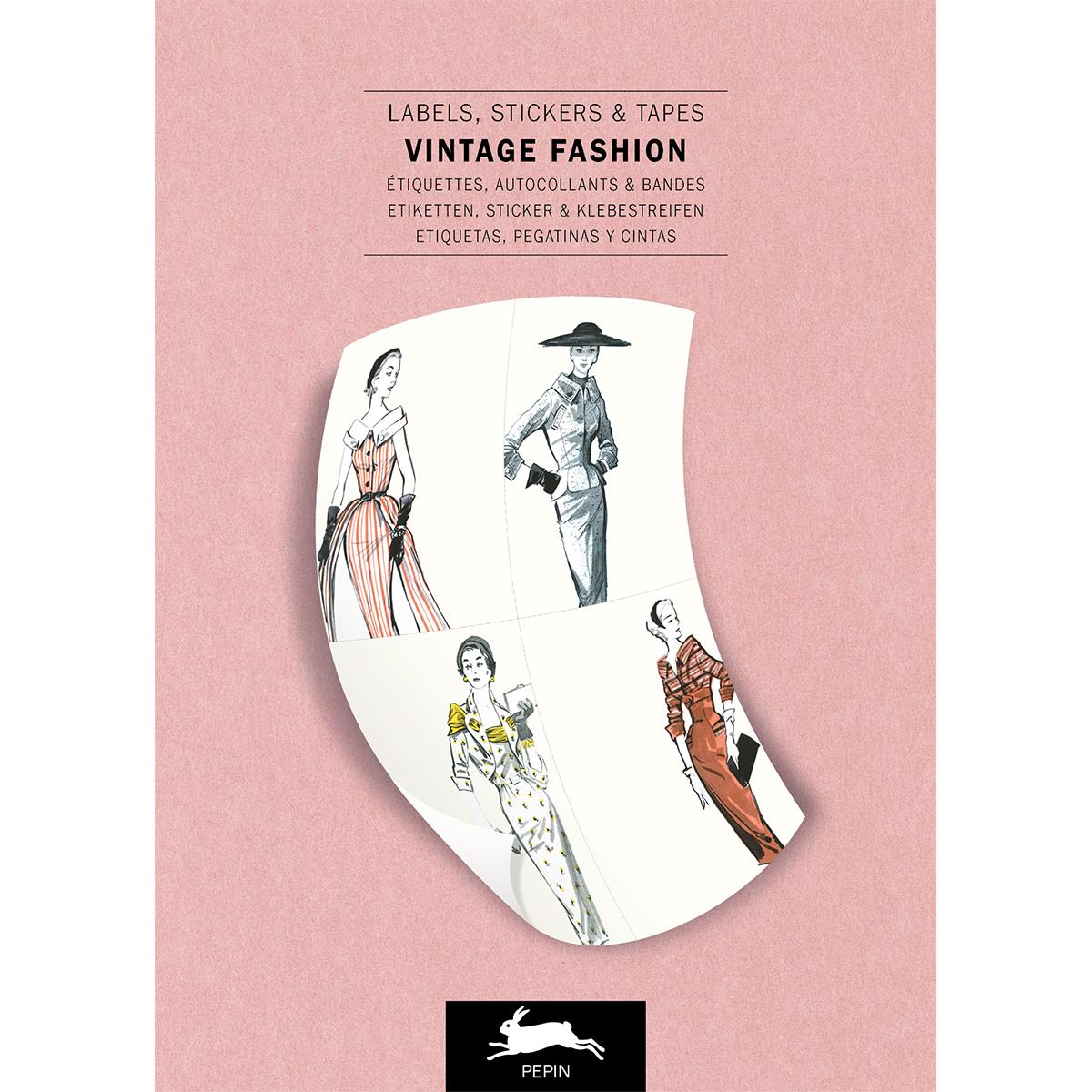 Vintage fashion sticker book