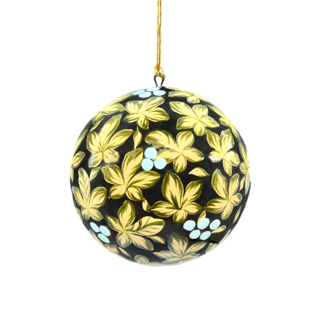Large flowers and berries bauble