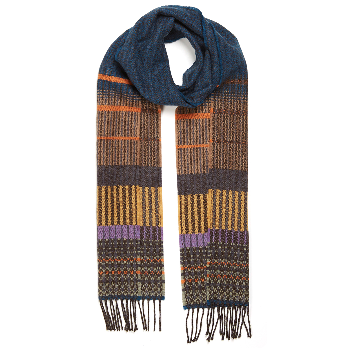 Anouilh teal scarf by Wallace Sewell