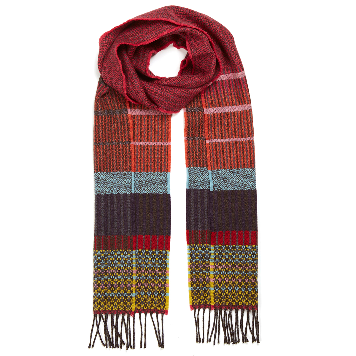 Anouilh fuchsia scarf by Wallace Sewell