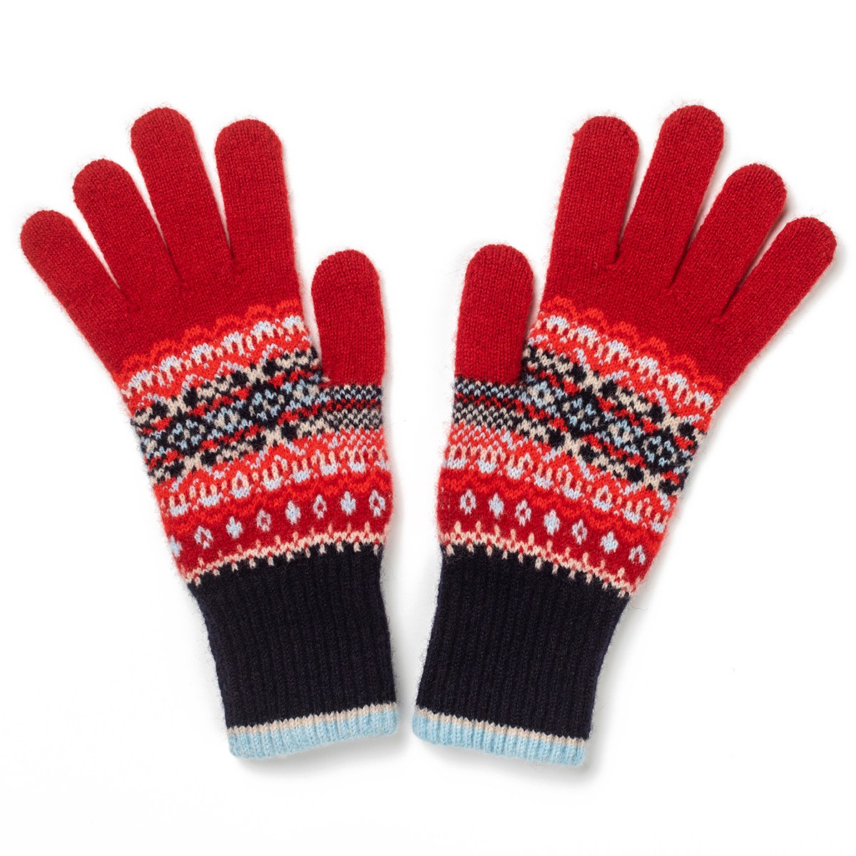Alloa blue poppy gloves