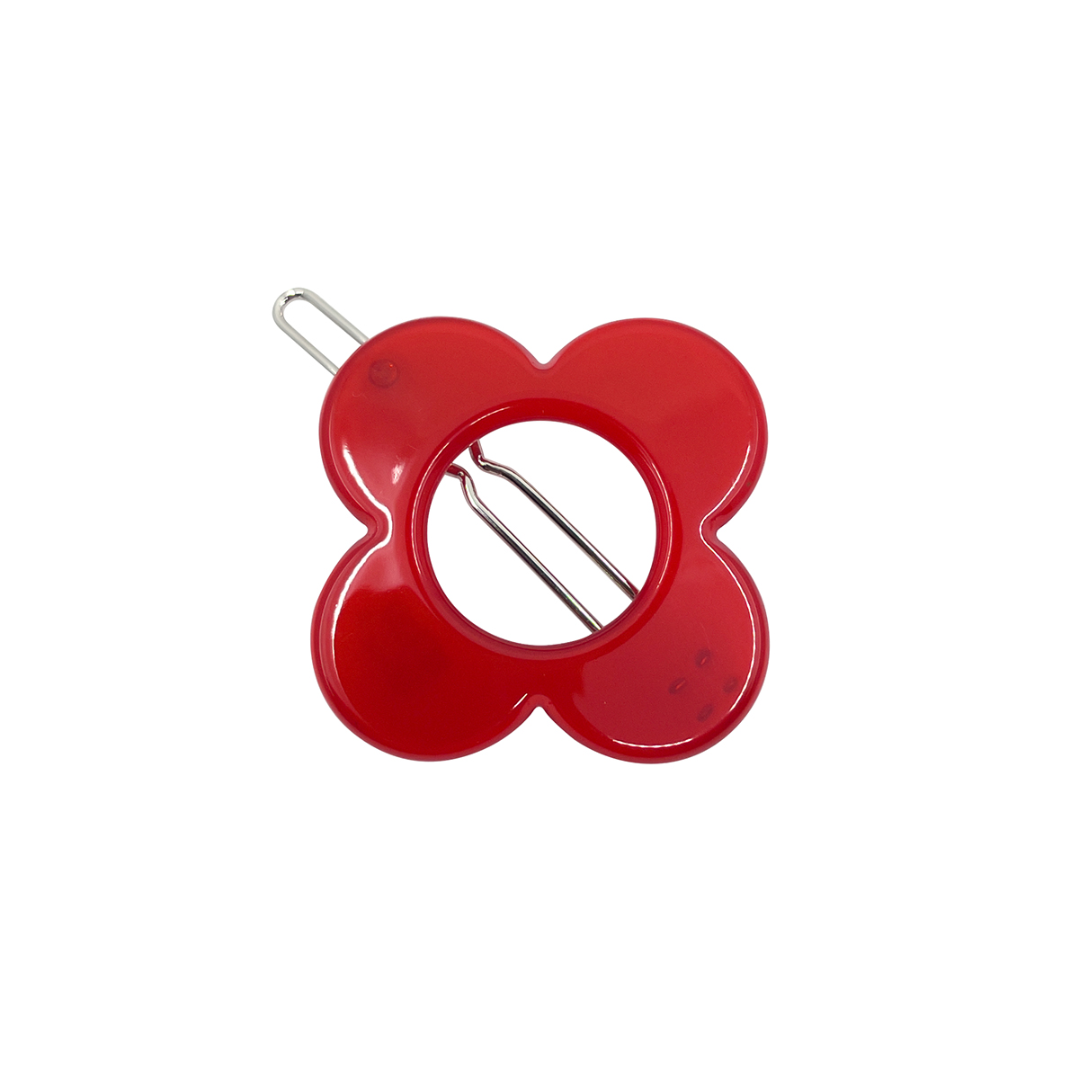 Red Hanover hair clip by Inky and Mole