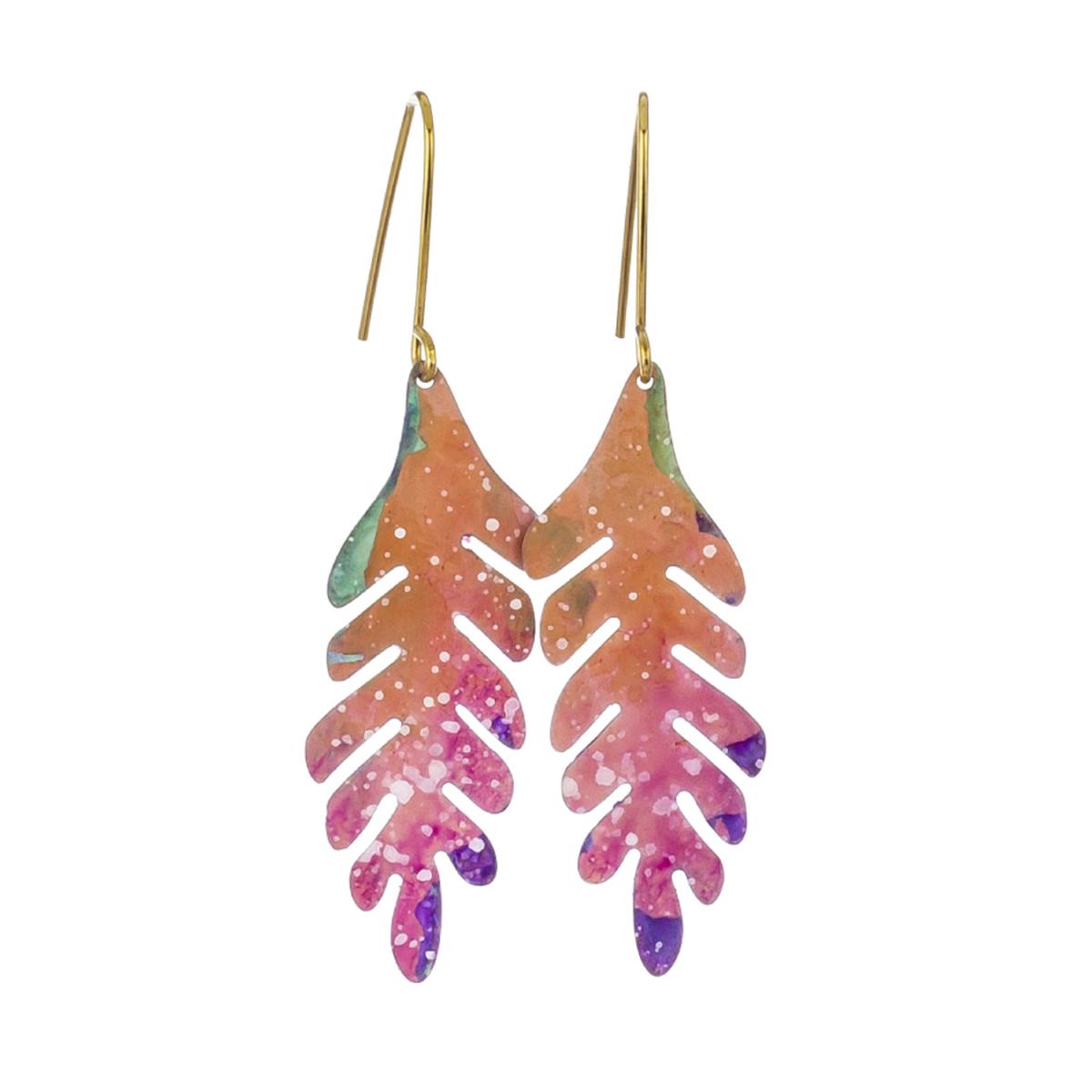 Prairie leaf hook earrings by Sibilia