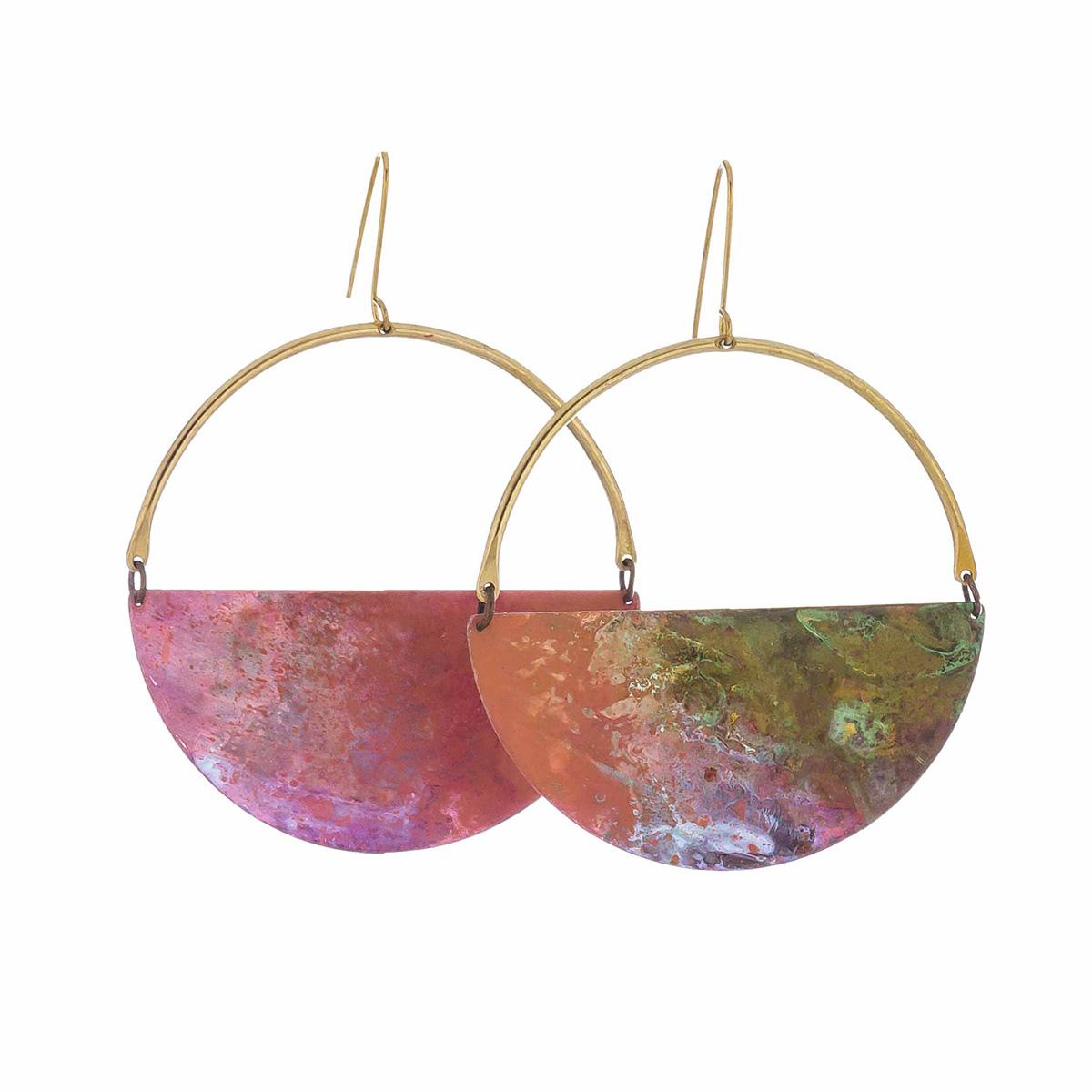Prairie half-moon hook earrings by Sibilia