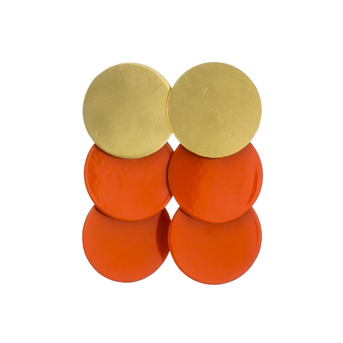 Papaya circles stud earrings by Sibilia
