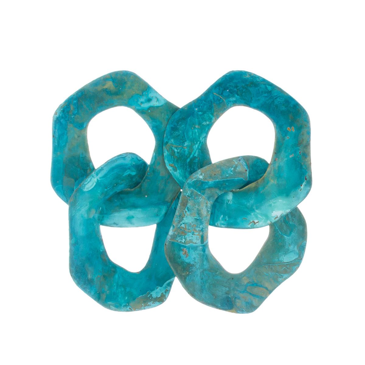 Interlock patina stud earrings by Sibilia