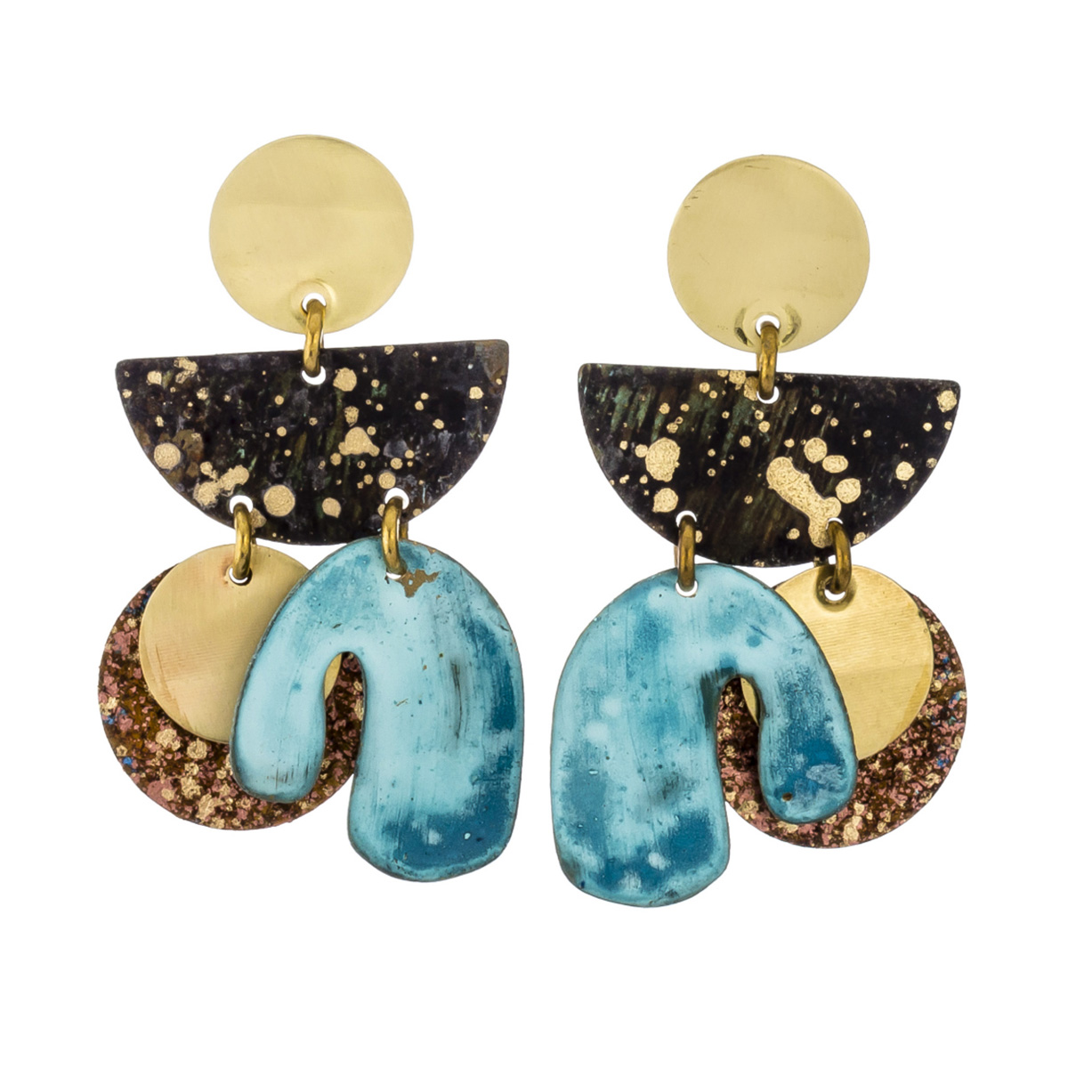 Amazonia speck mobile stud earrings by Sibilia