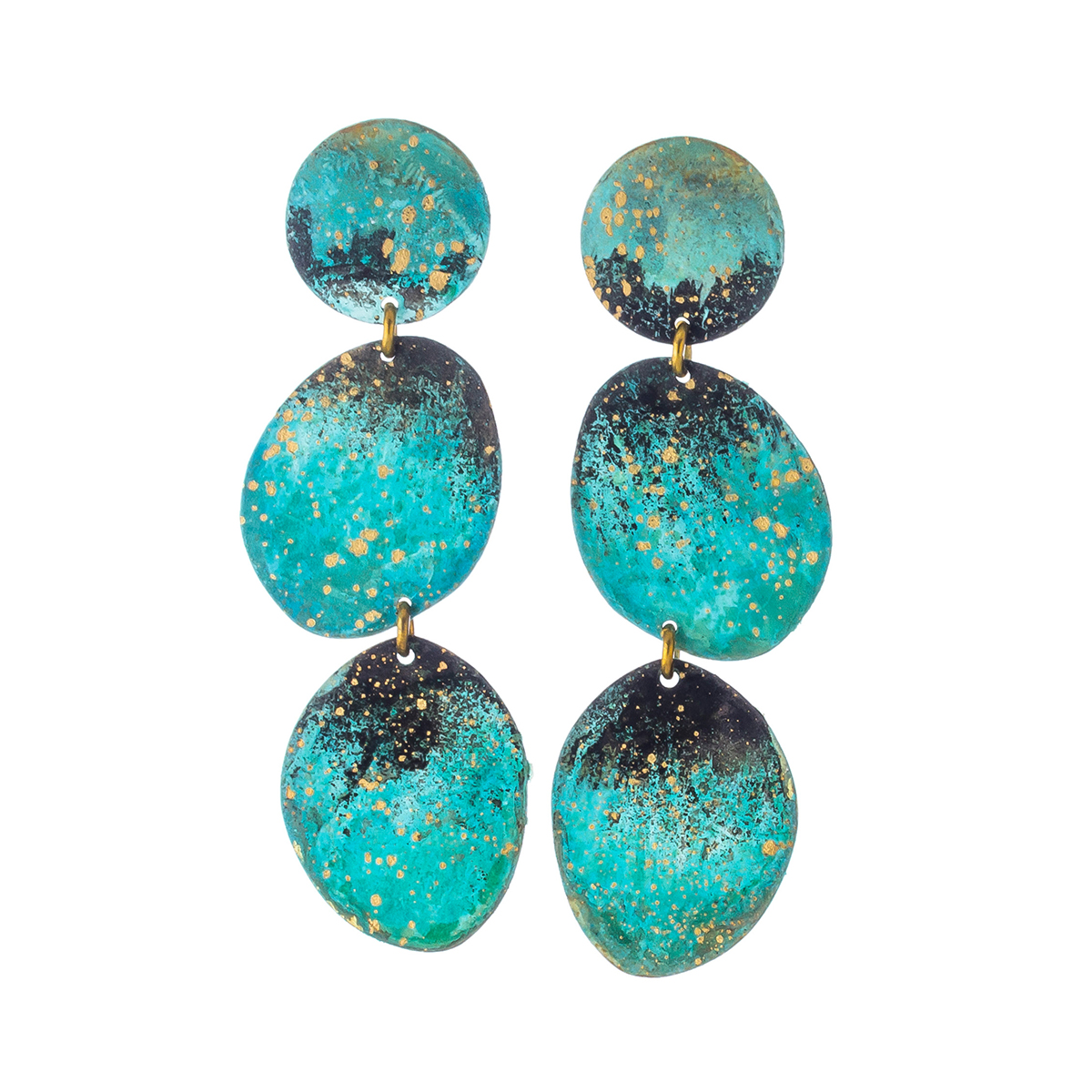 Forest oval stud earrings by Sibilia