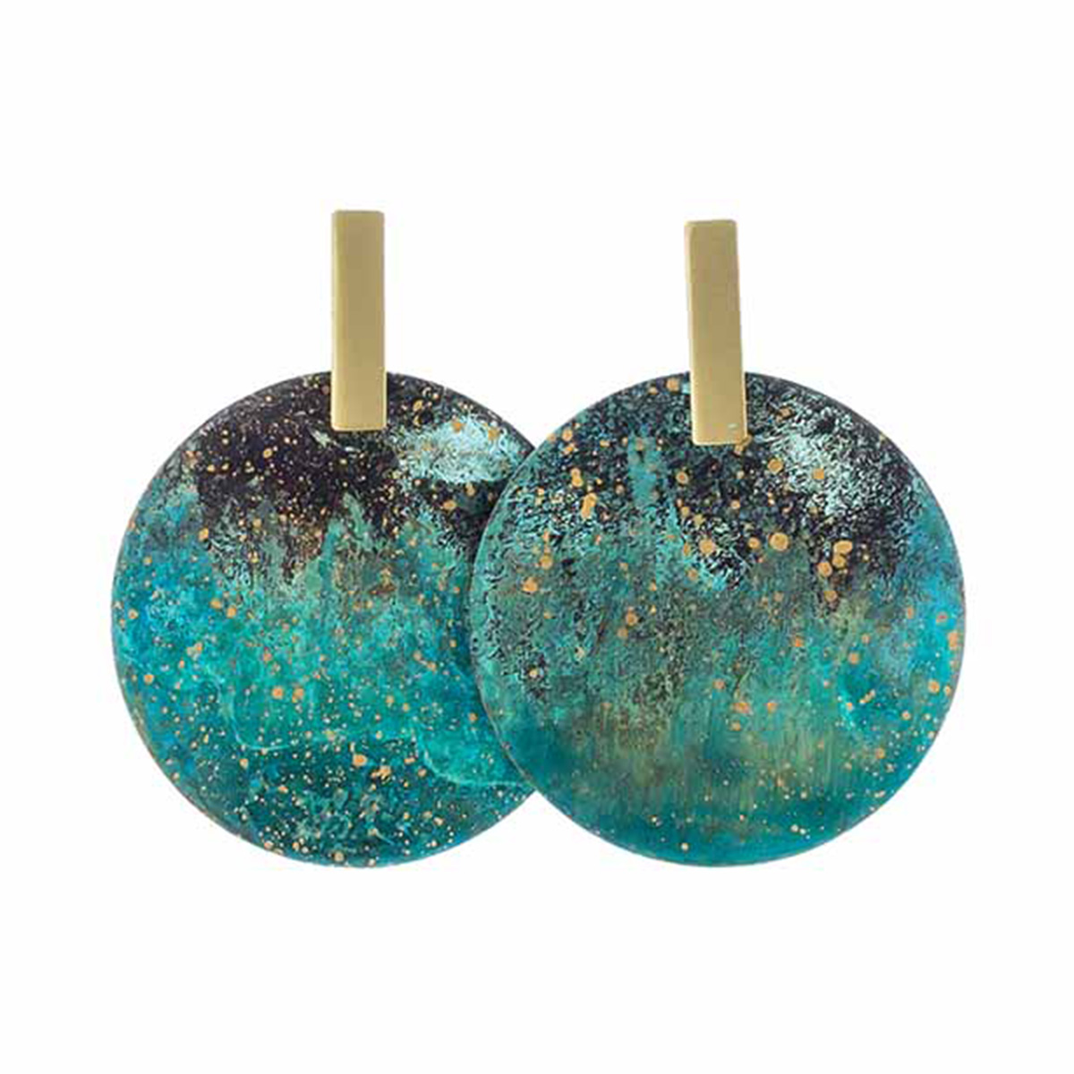 Forest disc stud earrings by Sibilia
