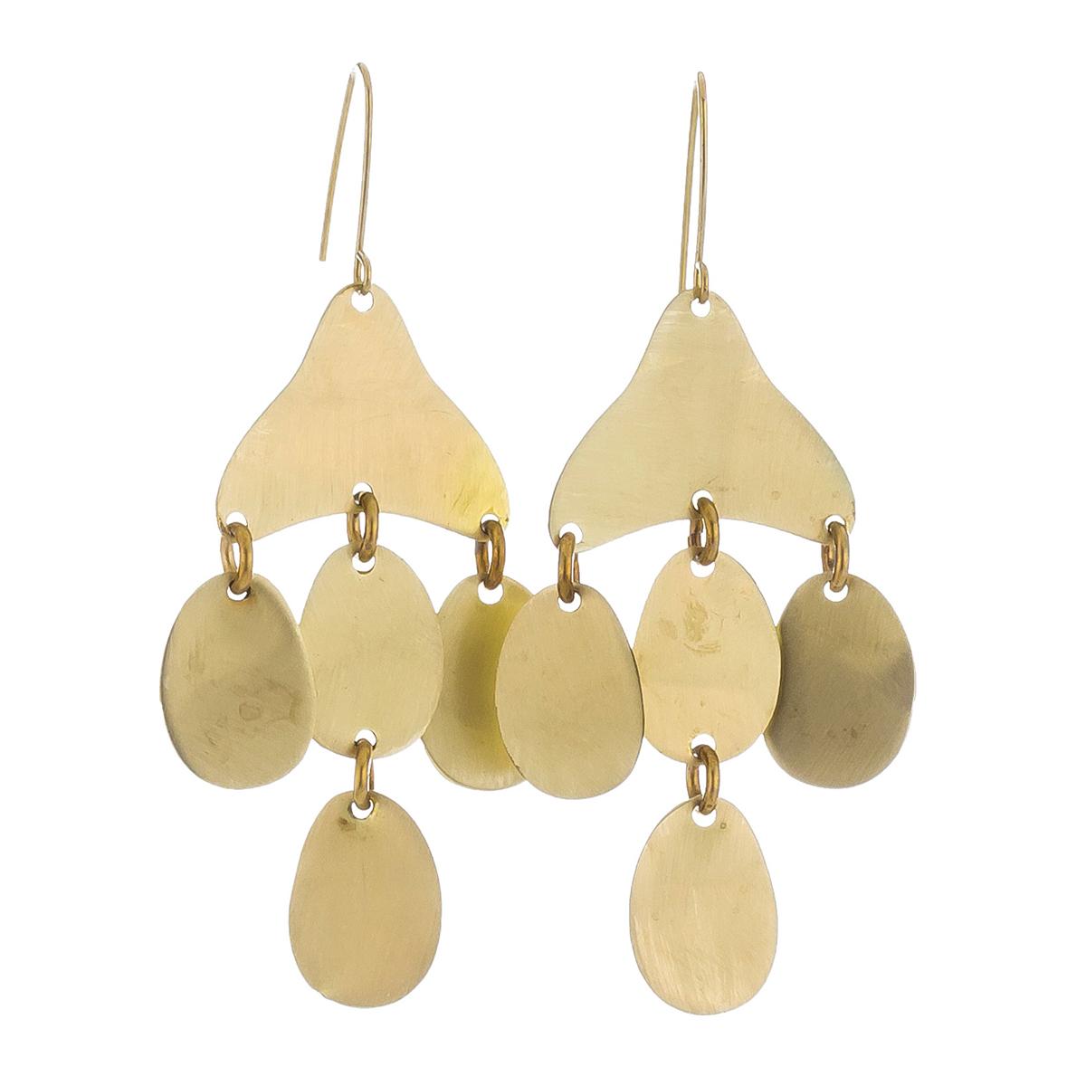 Brass Medusa earrings by Sibilia
