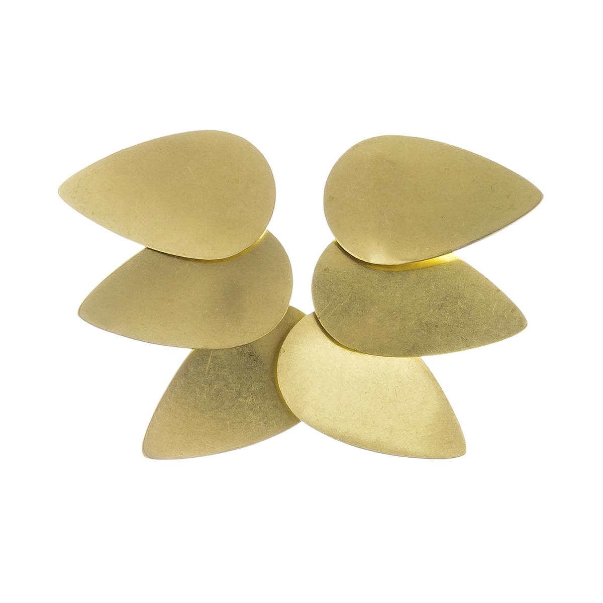 Brass drops earrings by Sibilia