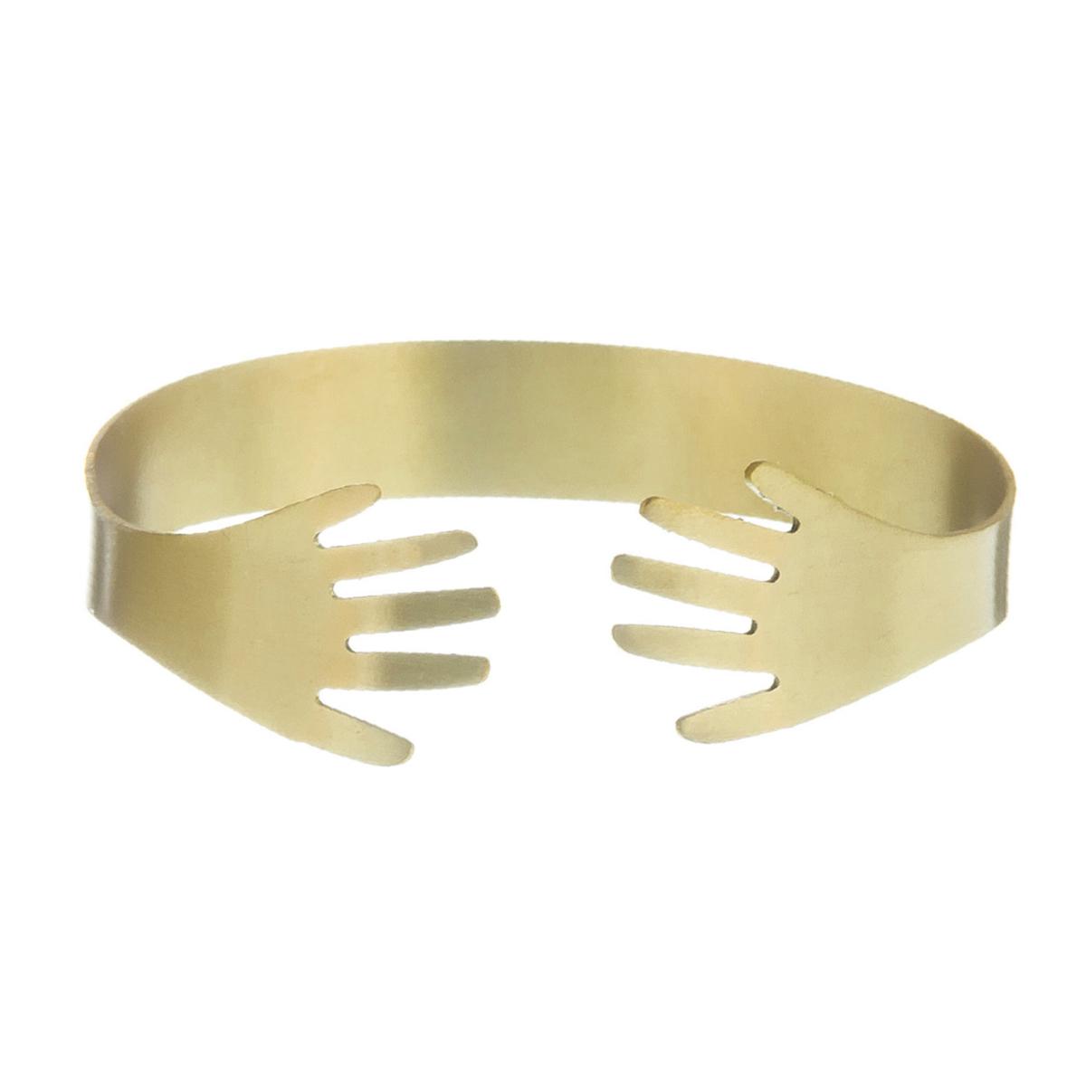 Brass hands bracelet by Sibilia