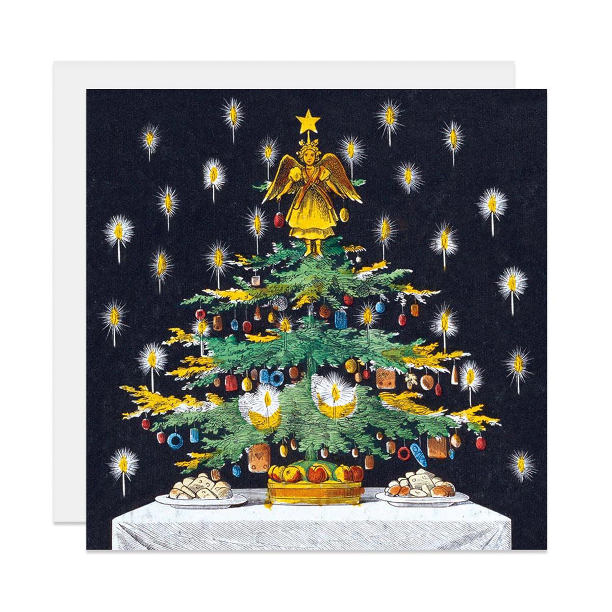 Christmas tree Christmas card pack