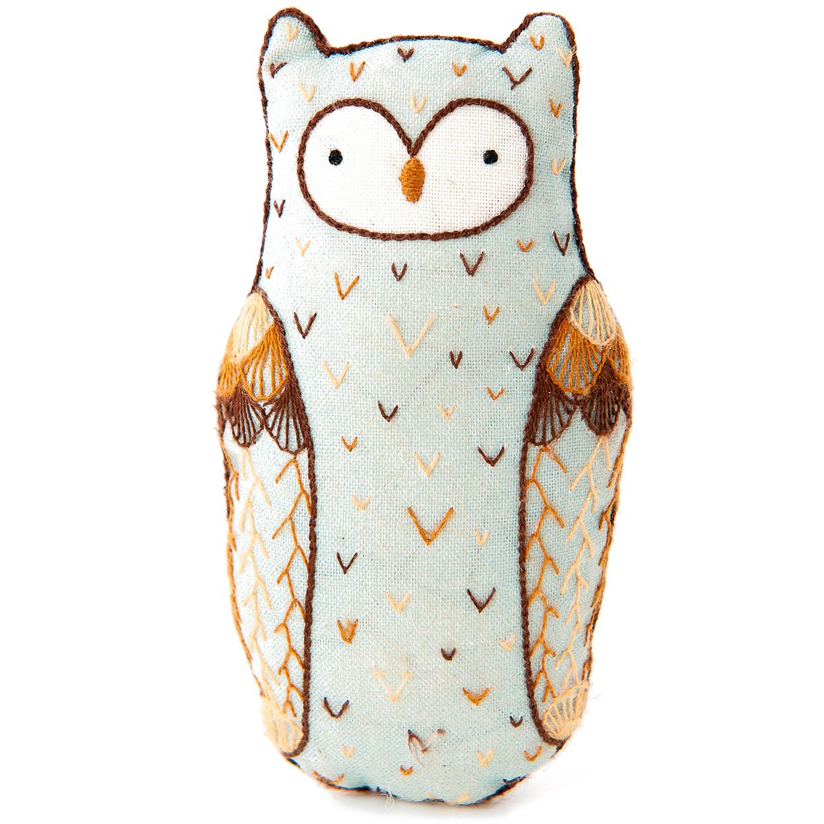Horned owl doll kit