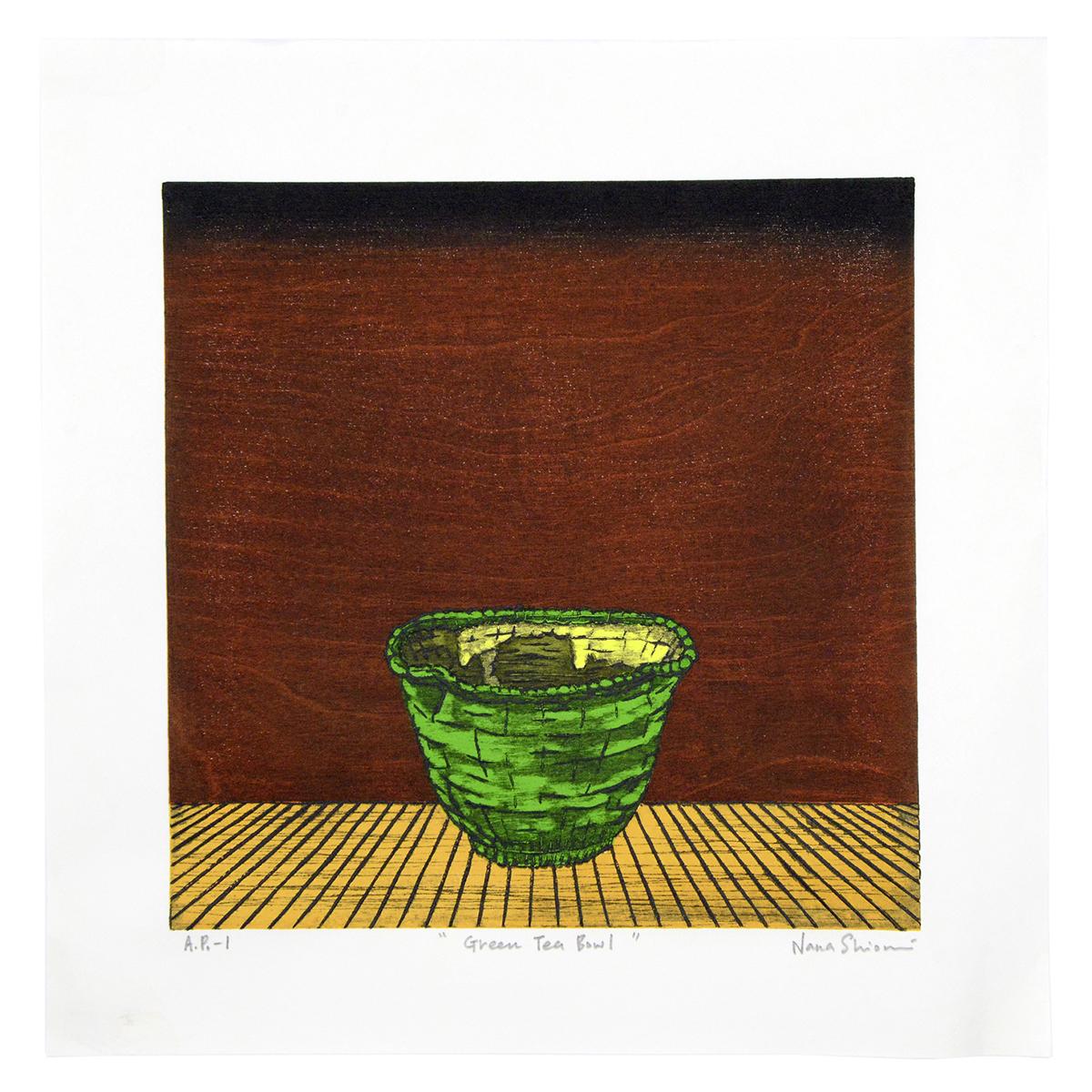 Green Tea Bowl print by Nana Shiomi