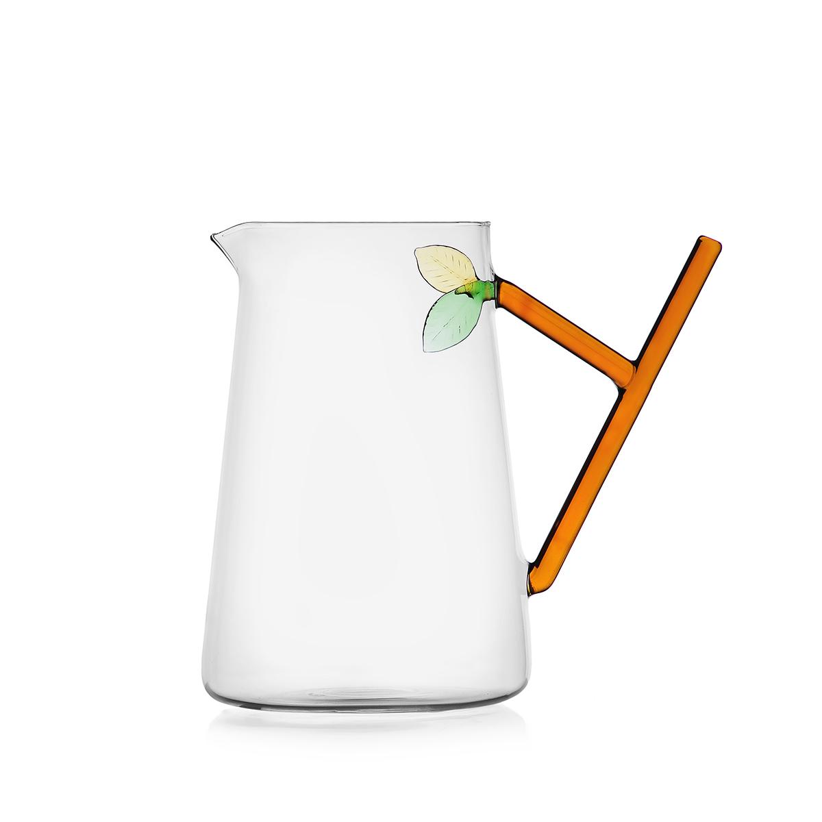 Leaves glass jug by Ichendorf Milano