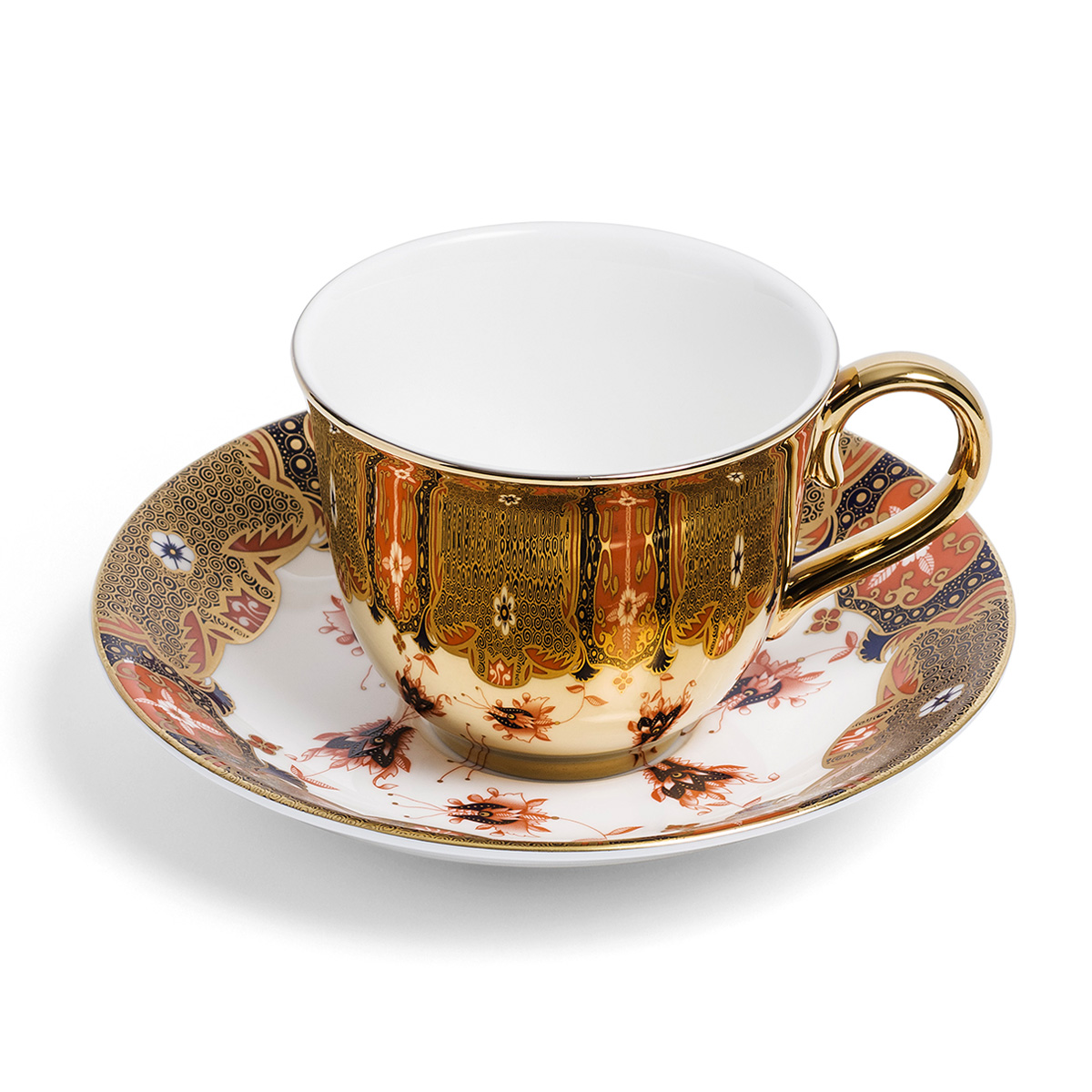 Dragon Flower cup and saucer by Richard Brendon