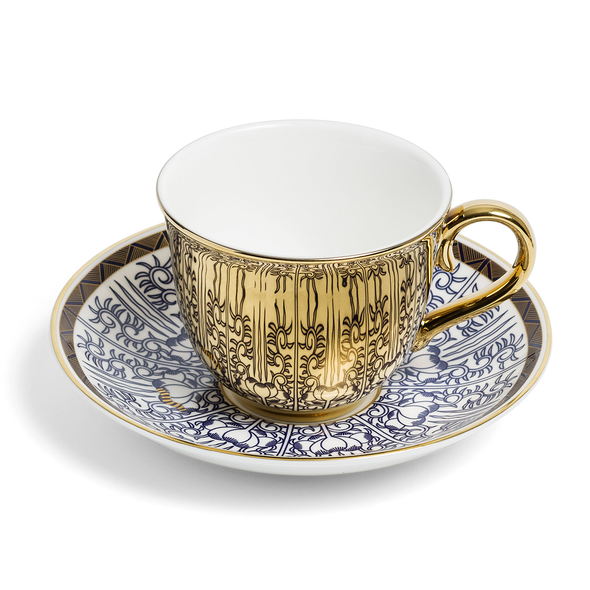 Georgian Lilies cup and saucer by Richard Brendon