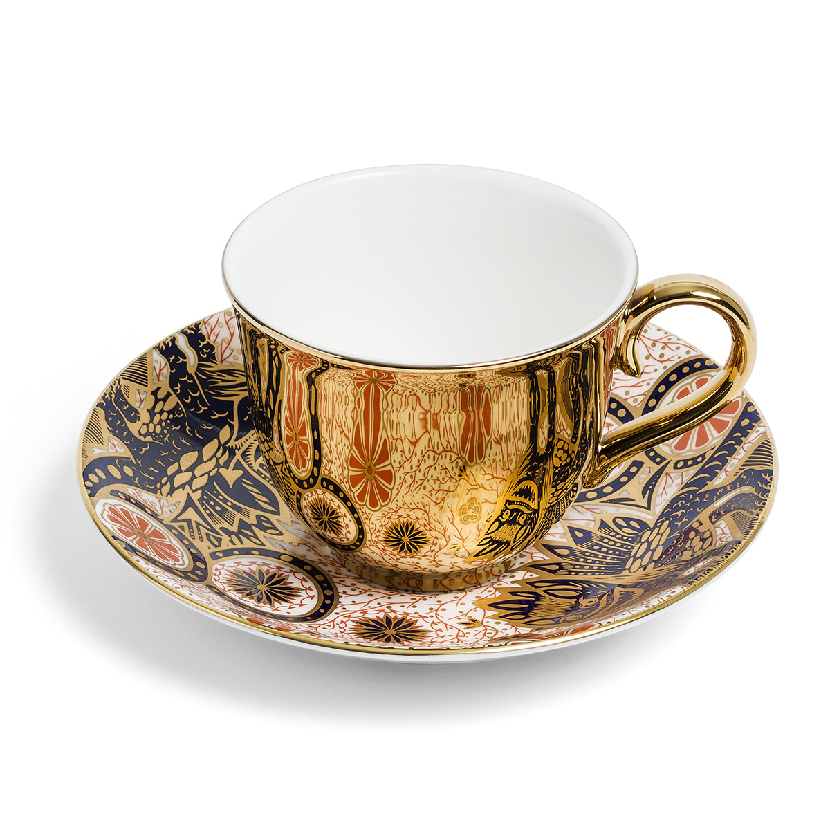 Mythical Beasts cup and saucer by Richard Brendon