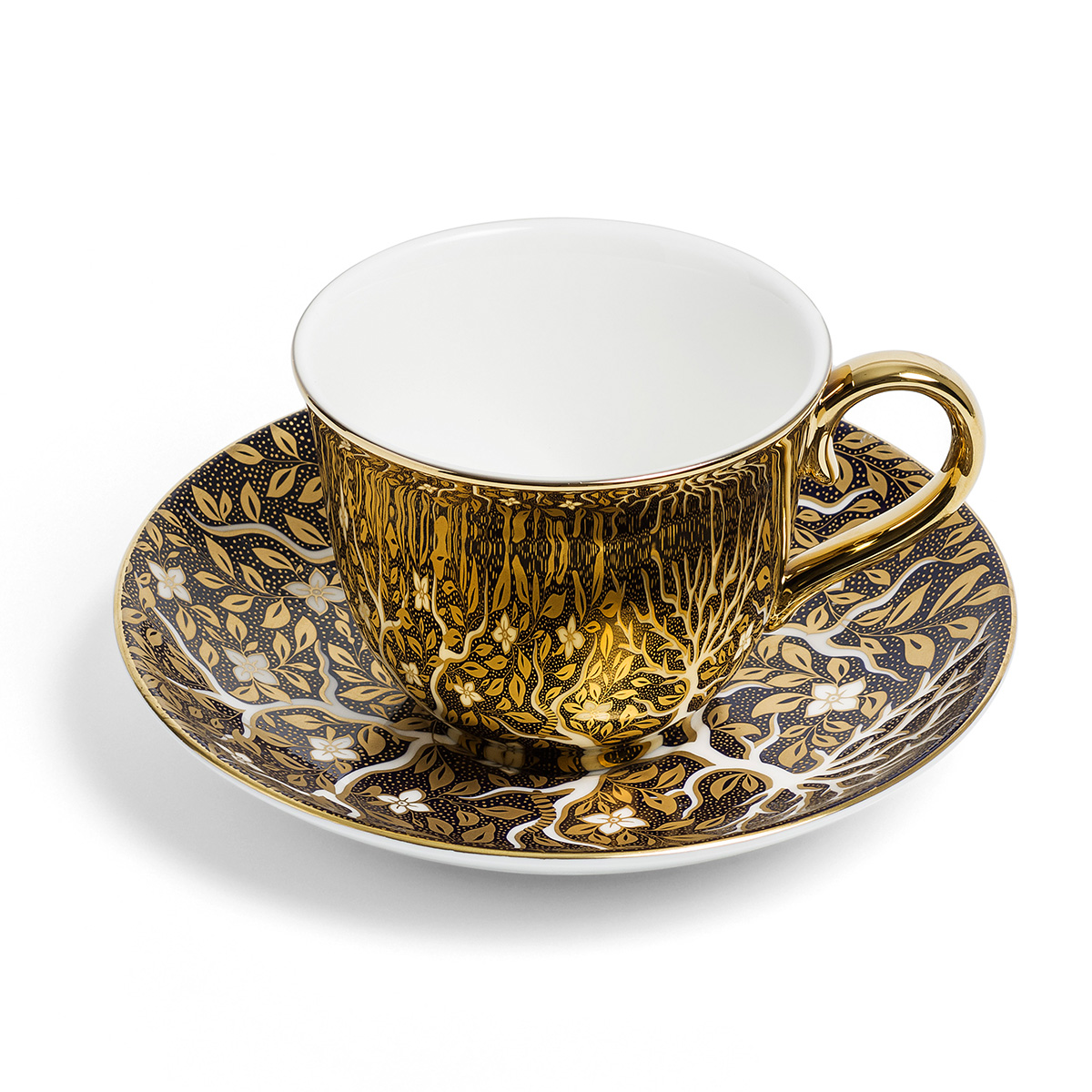 Tree of Life cup and saucer by Richard Brendon