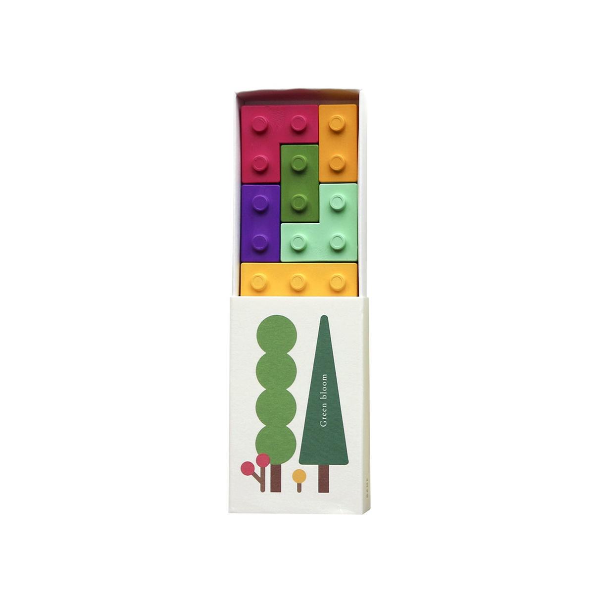 Green bloom crayon box