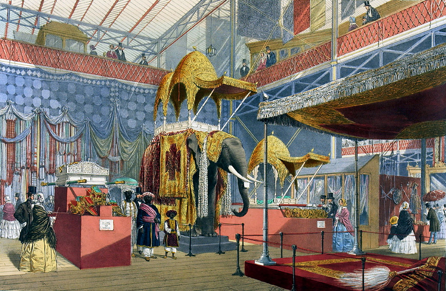 The Indian Court At The Great Exhibition Custom Print