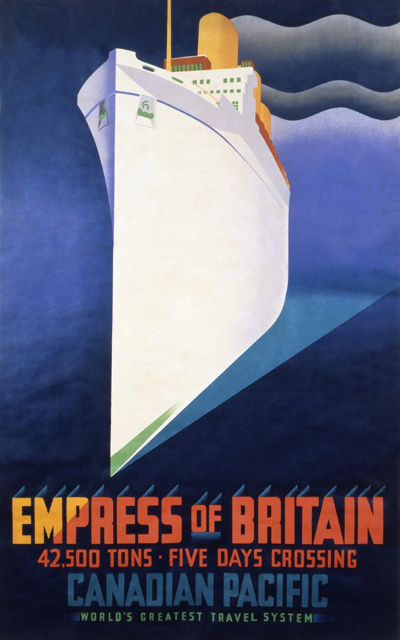 empress of britain travel poster custom print