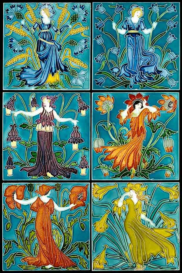 Flower Faries tiles (custom print)