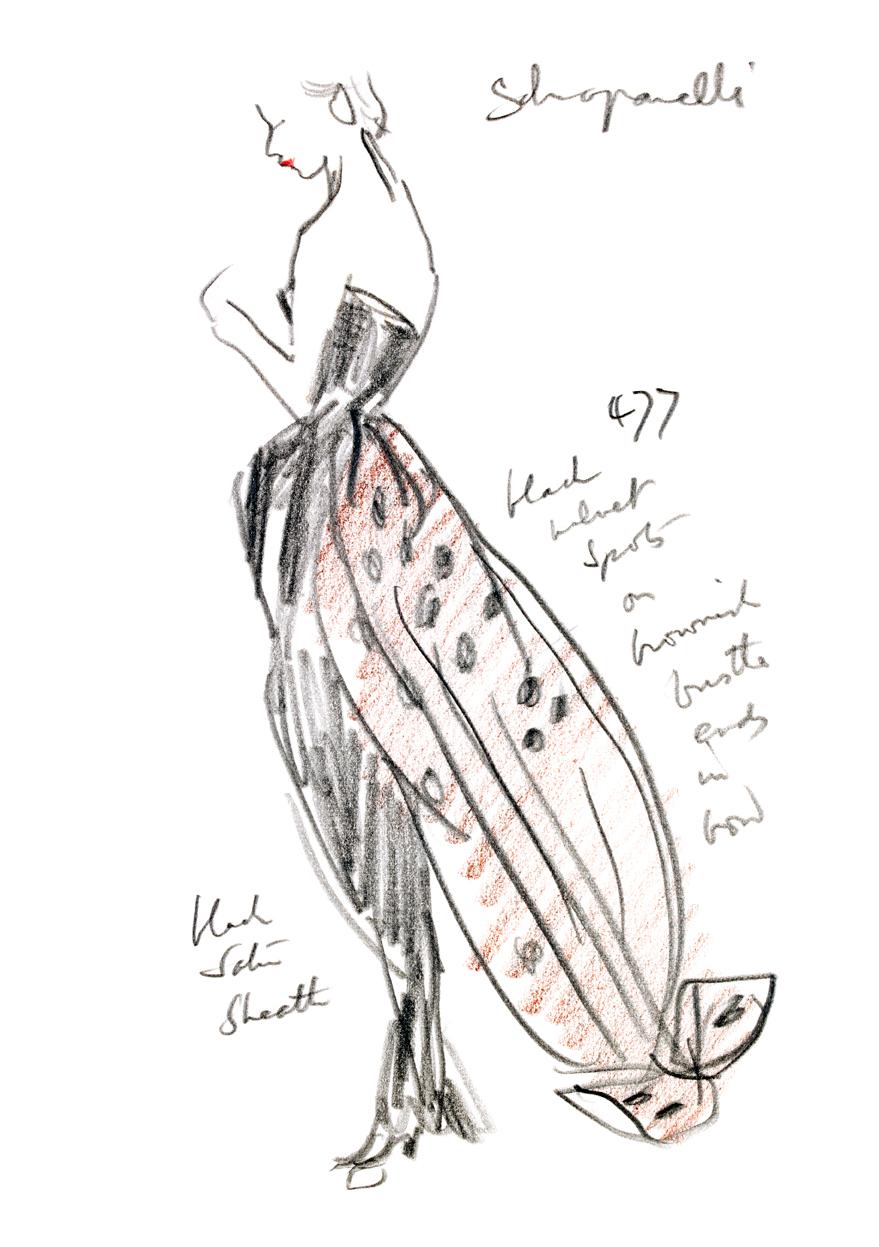 Schiaparelli Gown Fashion Illustration Custom Print