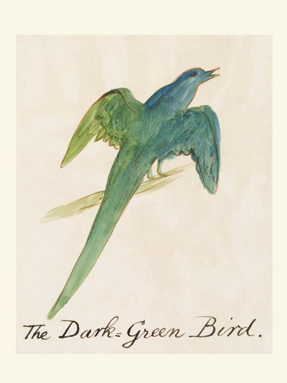 The Dark Green Bird Custom Print