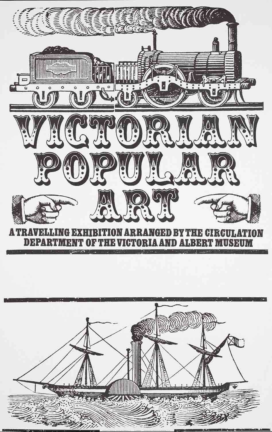 Victorian Popular Art exhibition poster (custom print)