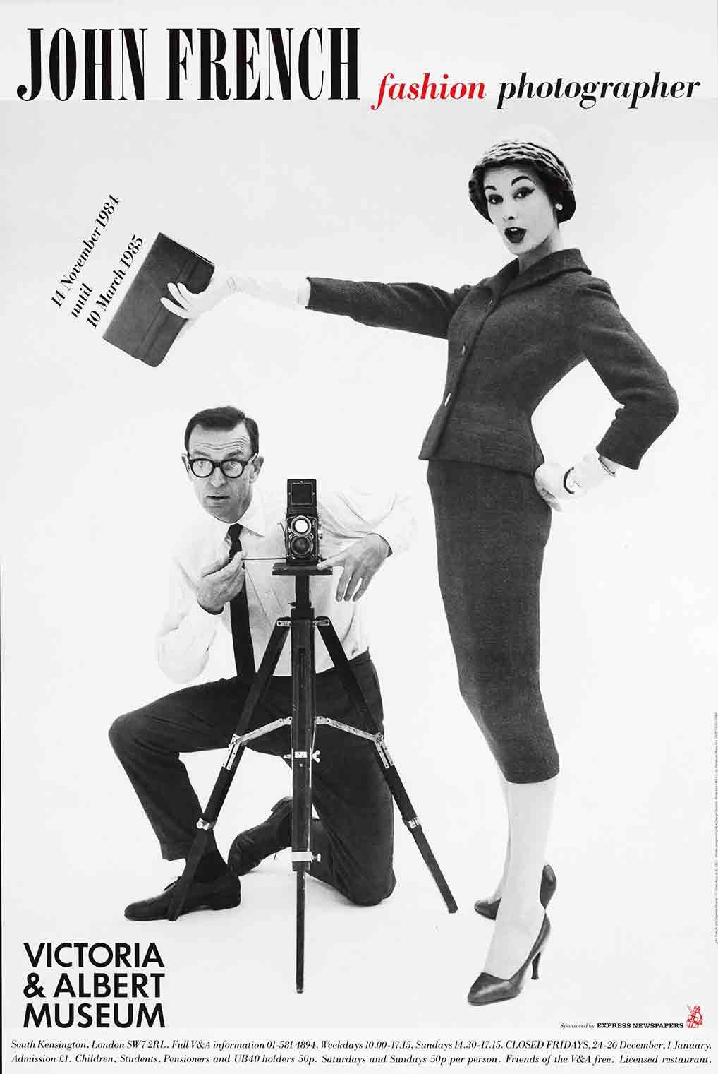 John French Fashion Photographer exhibition poster (custom print)