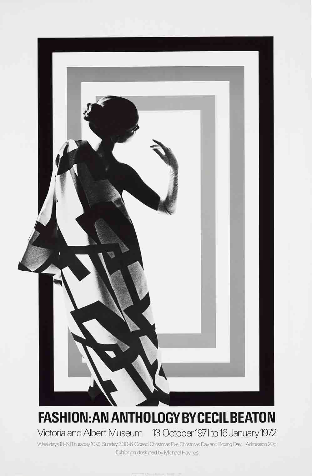 Fashion: An Anthology by Cecil Beaton exhibition poster (custom print)