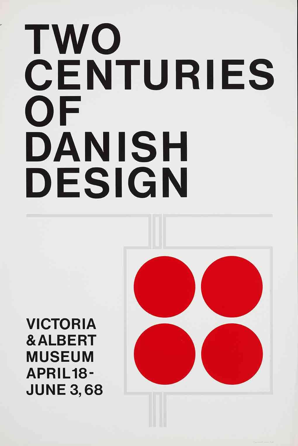 Two centuries of Danish Design exhibition poster (custom print)