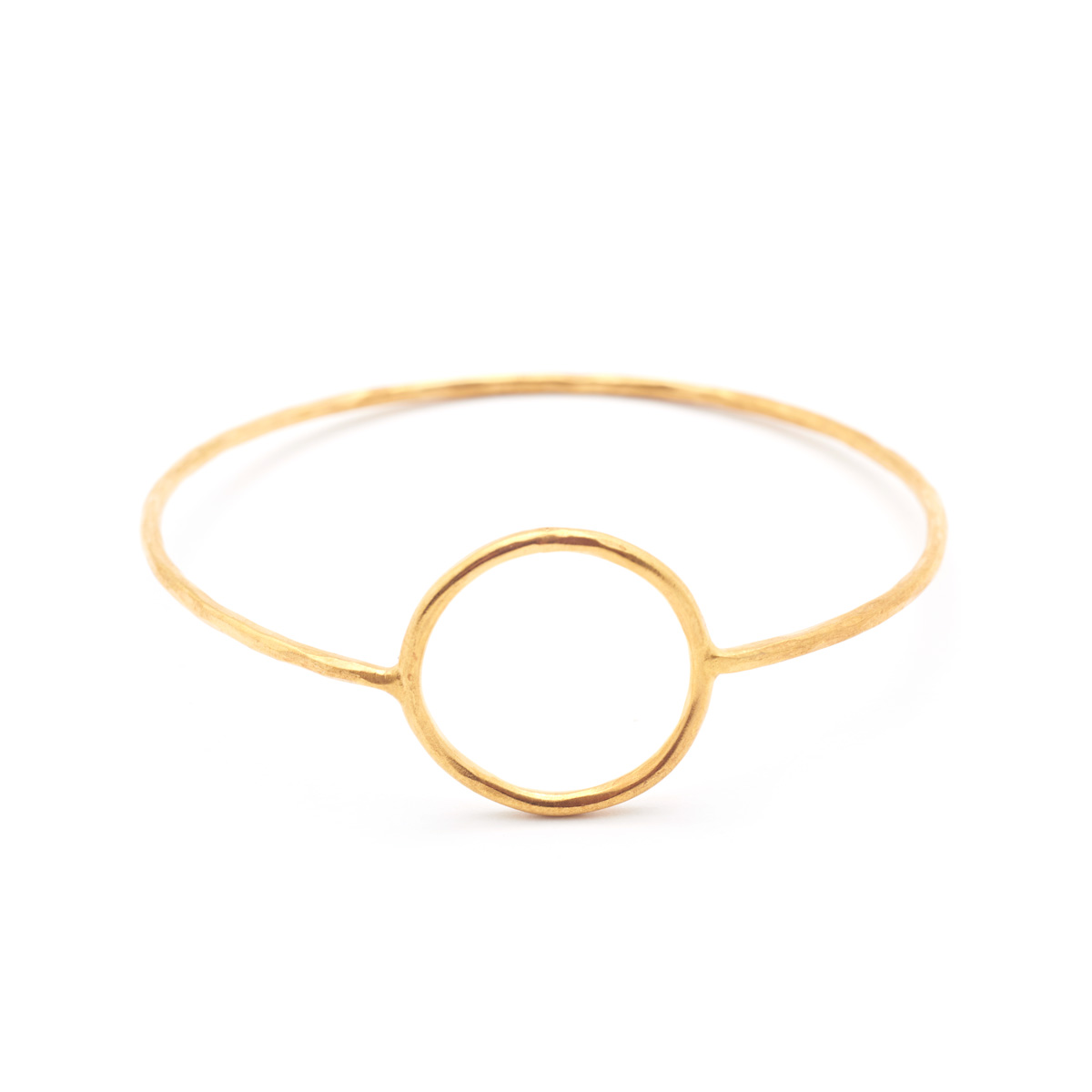 Gold Circle Outline Bangle by Mirabelle