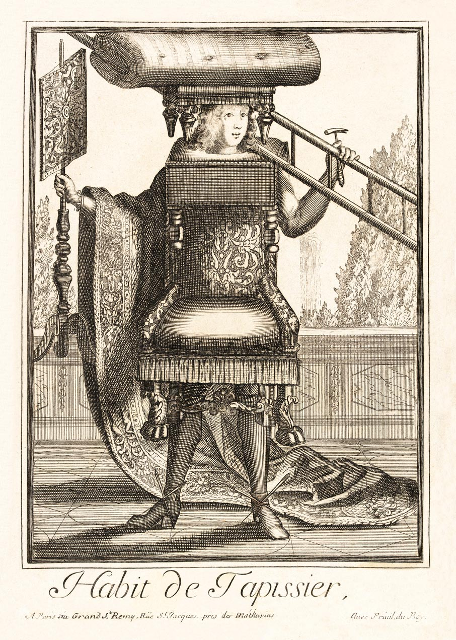 Tapissier Paris 20 habit de tapissier (custom print)