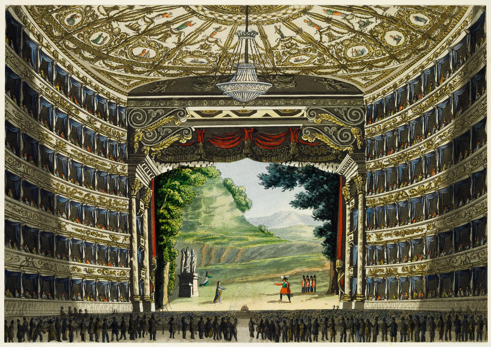 The Interior Of La Scala In Milan Custom Print